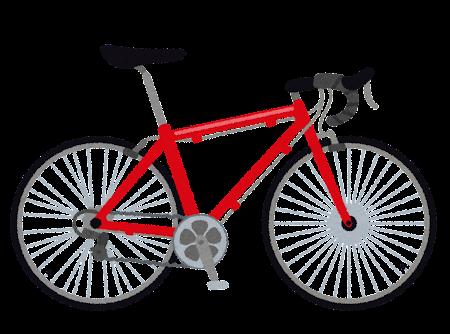 ロードバイクのイラスト(自転車)