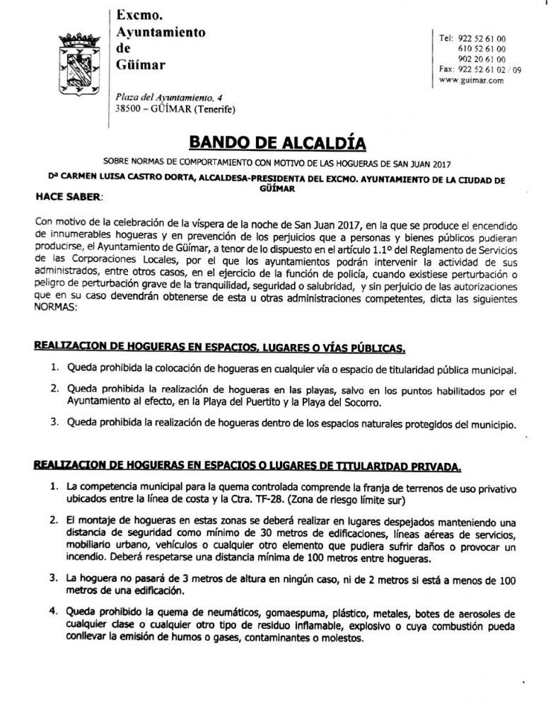 Bando de las Hogueras de San Juan 2017. Pincha en la foto