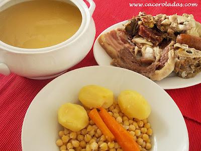 Caceroladas cocido madrile o - Cocido en la olla express ...