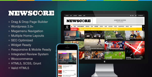 NewsCore v1.6.0 - A Blog, Magazine and News Theme for WP