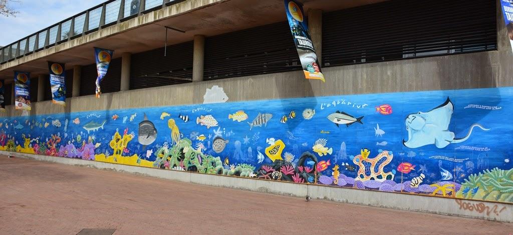 Barcelona Aquarium graffiti