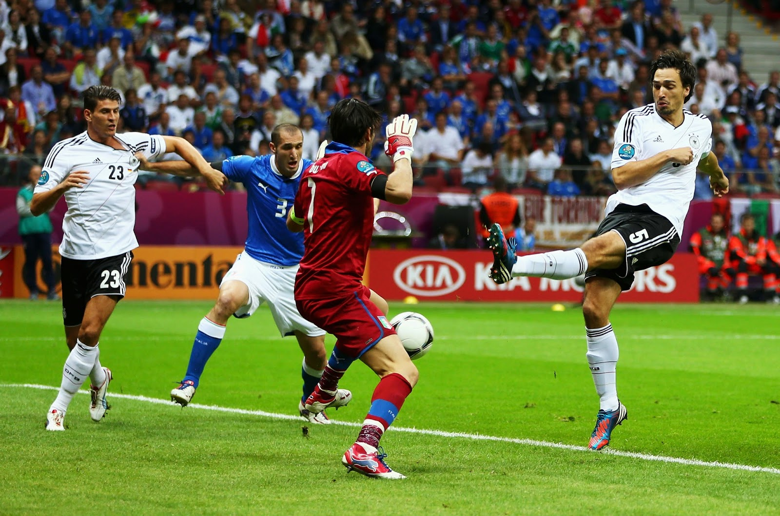Italy vs. Germany at Euro 2012