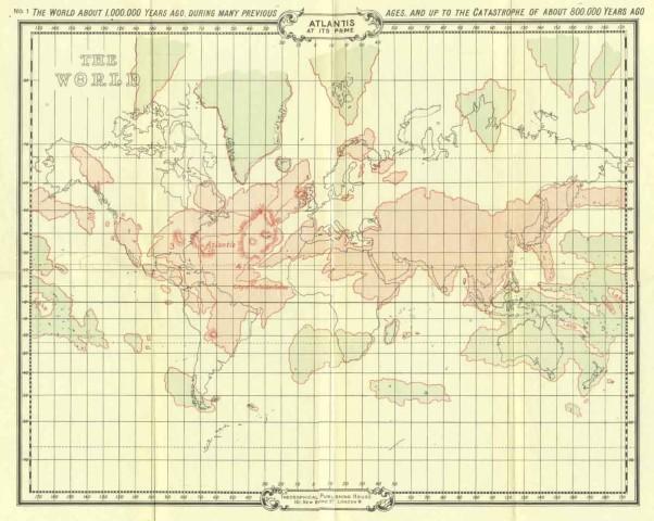 Mapa Atlantida e Lemuria a 800 mil anos