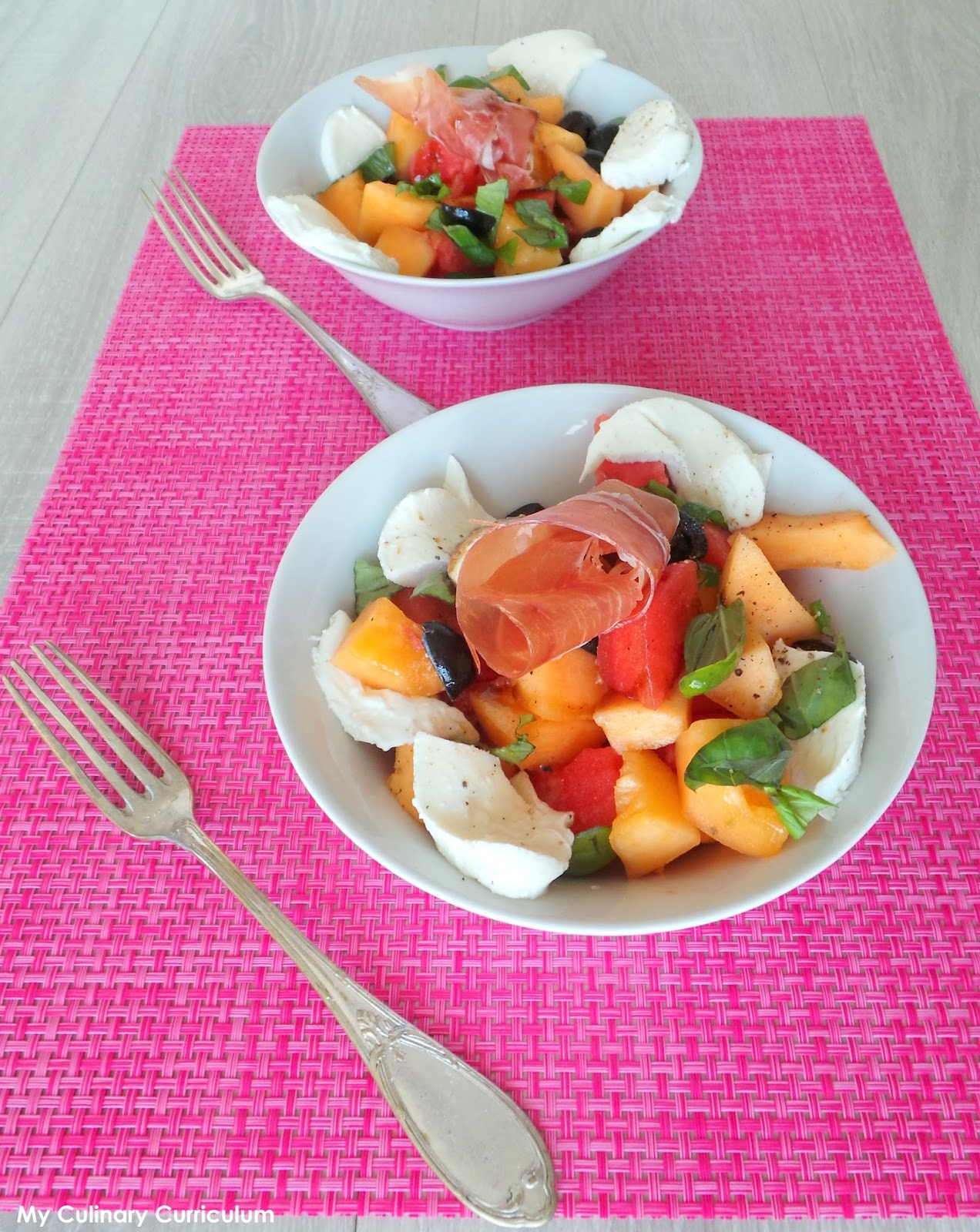 My Culinary Curriculum Salade D 39 T Au Melon Past Que