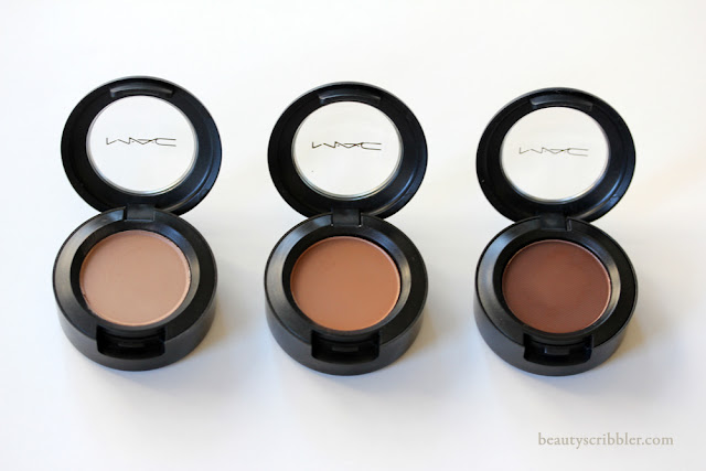MAC Eye Shadow in Wedge, Saddle and Brown Down