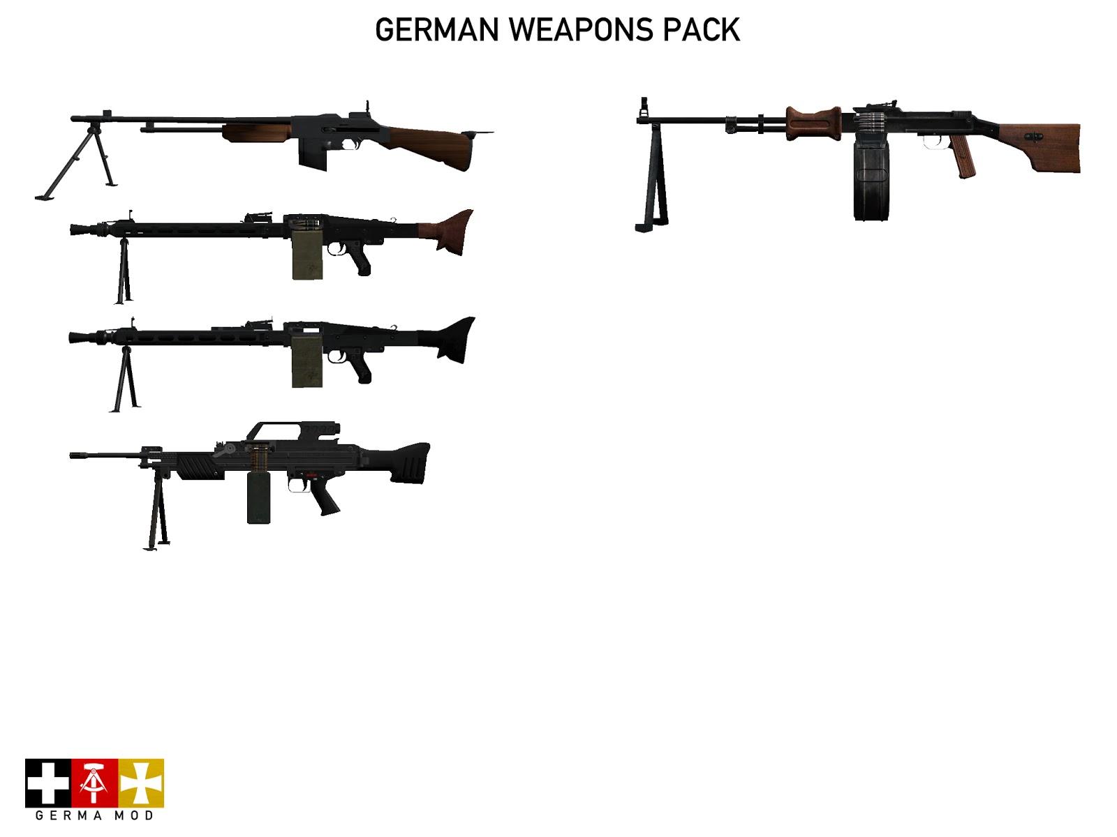 弱者の日記^^  1951 から 2012 年までのドイツ軍武器を追加する Arma 2 用 German Weapons Pack アドオン
