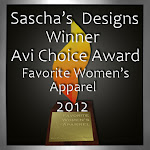 Winner Avi Choice Award Favorite Female Apparel 2011 & 2012