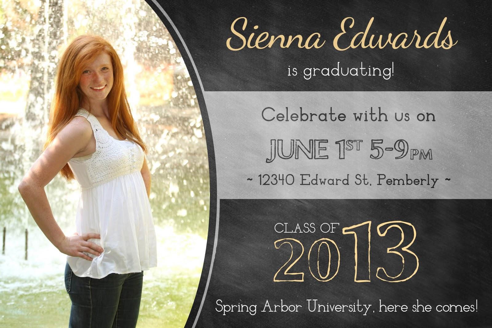 hs graduation announcement