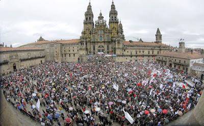Manifestación en defensa do galego na escola, xaneiro 2010