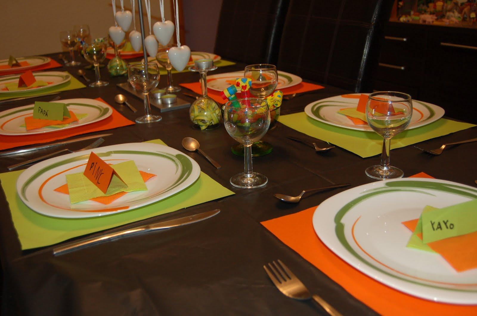 El delantal amarillo decoraci n para nochevieja - Decoracion mesa nochevieja ...