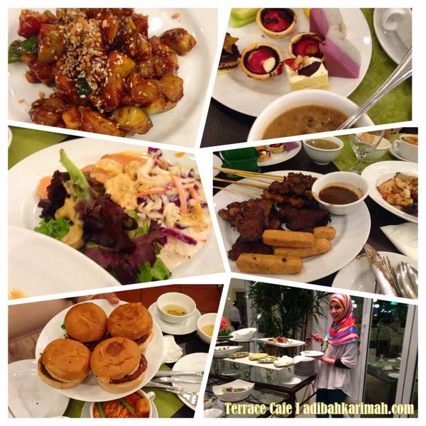 Pelbagai makanan di The Terrace Cafe