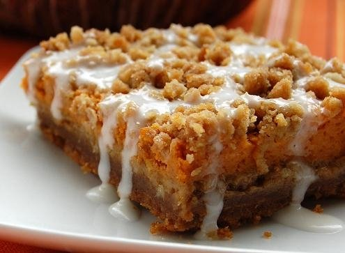 My Favorite Things No Bake Pumpkin Cheesecake Bars With A