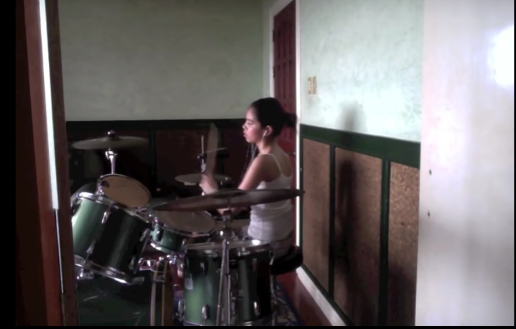 yaya dub playing drums