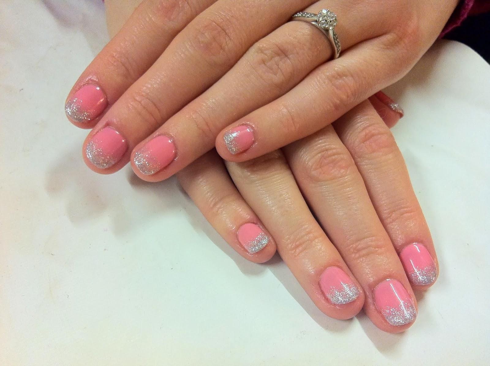 brush up and polish up cnd shellac nail art gotcha glitter fade