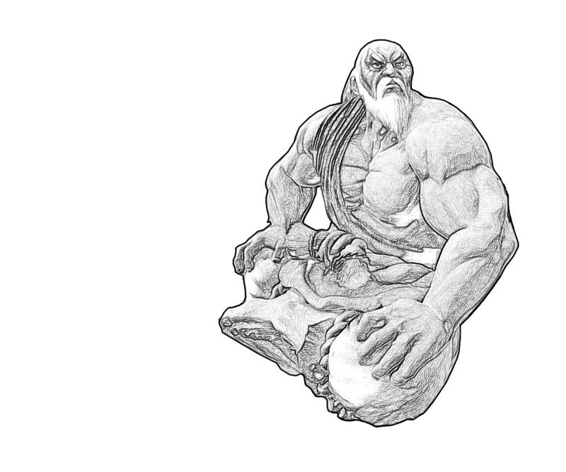 gouken-sitdown-coloring-pages