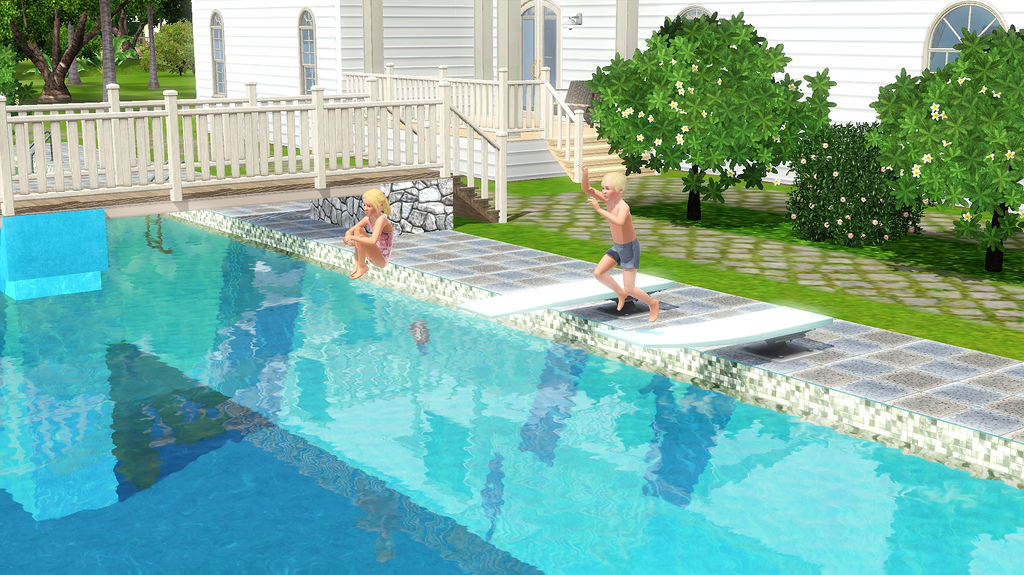 Simmers adictos for Piscina sims 4