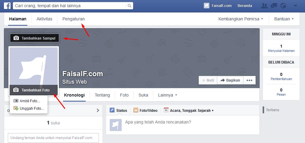 pengaturan fanpage facebook