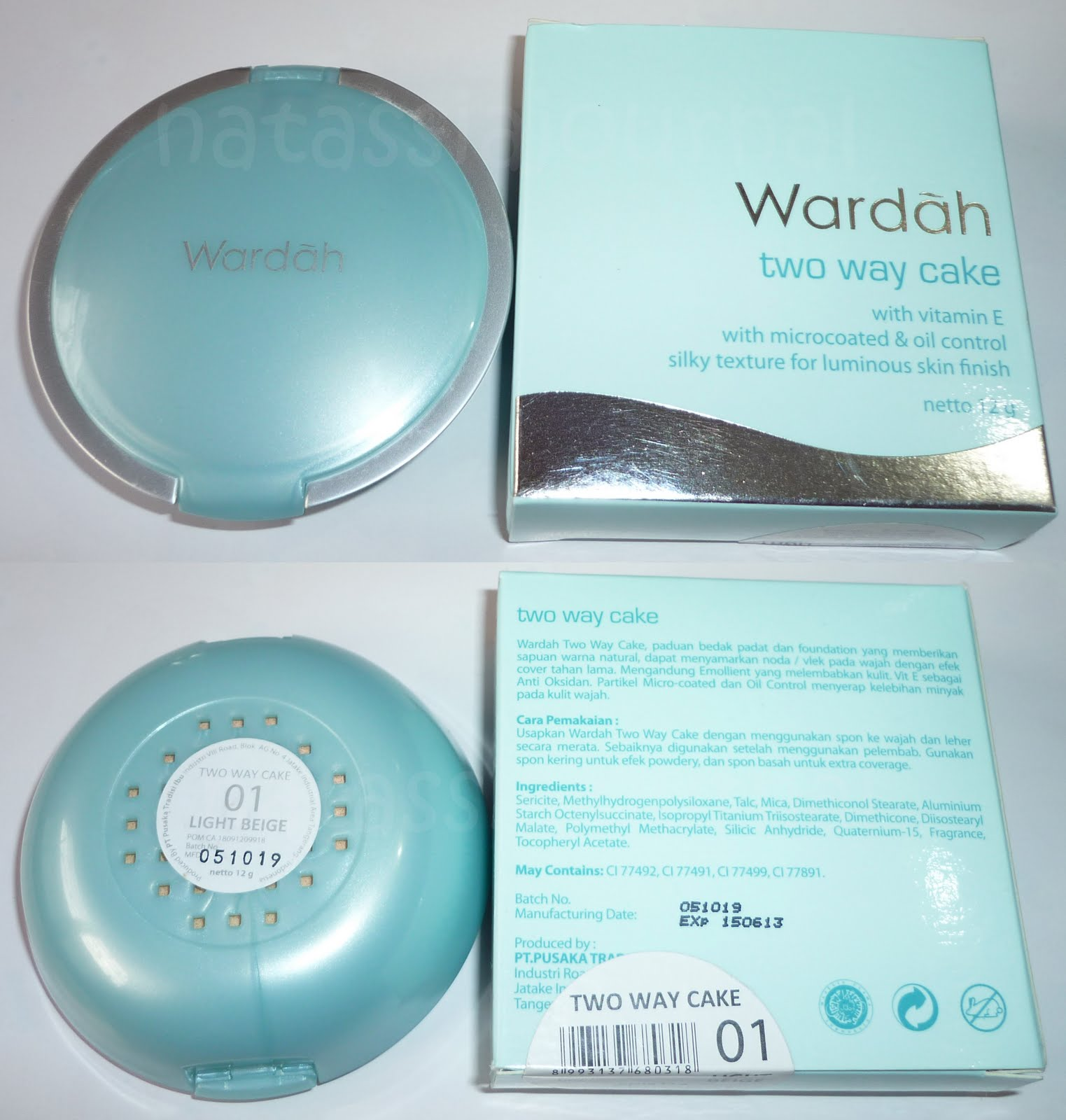 Jual Bedak Wardah Dan Nya Welcome To Lightening Two Way Cake Light Feel Uji Mengandung Merkuri