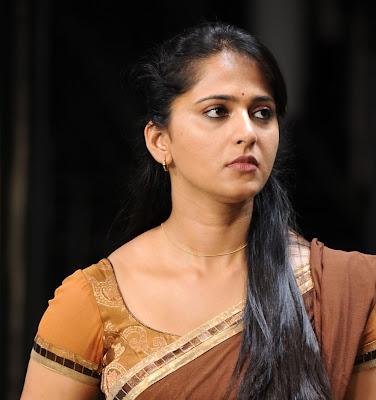 anushka half saree hot images