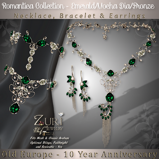 Zuri Jewelry Creation 10th Year RezzDay of Old Europe Village sim(special edition)