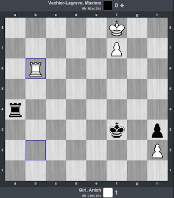 Posición final de la partida Giri - Vahier-Lagrave