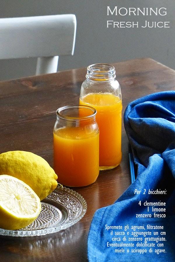 spremuta mandarino limone zenzero