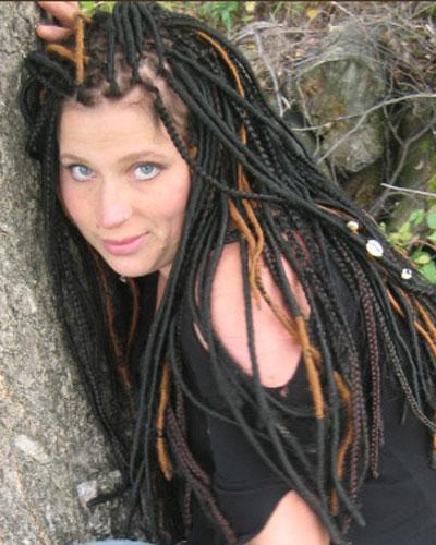 Silky Dreads 1 Penteados para cabelos afros: sugestões, fotos