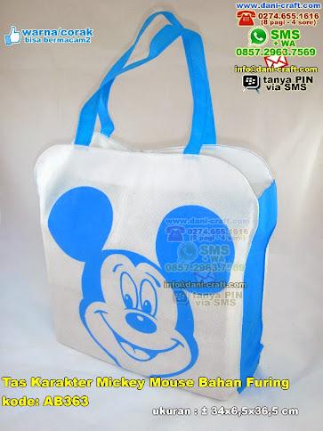 Tas Karakter Mickey Mouse Bahan Furing