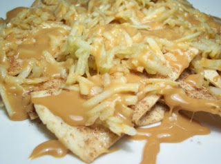 Caramel Apple Cinnamon Nachos