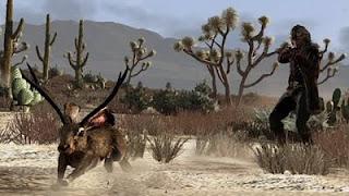 image de chasse du lapin bizarre du jeu Red Dead Redemption