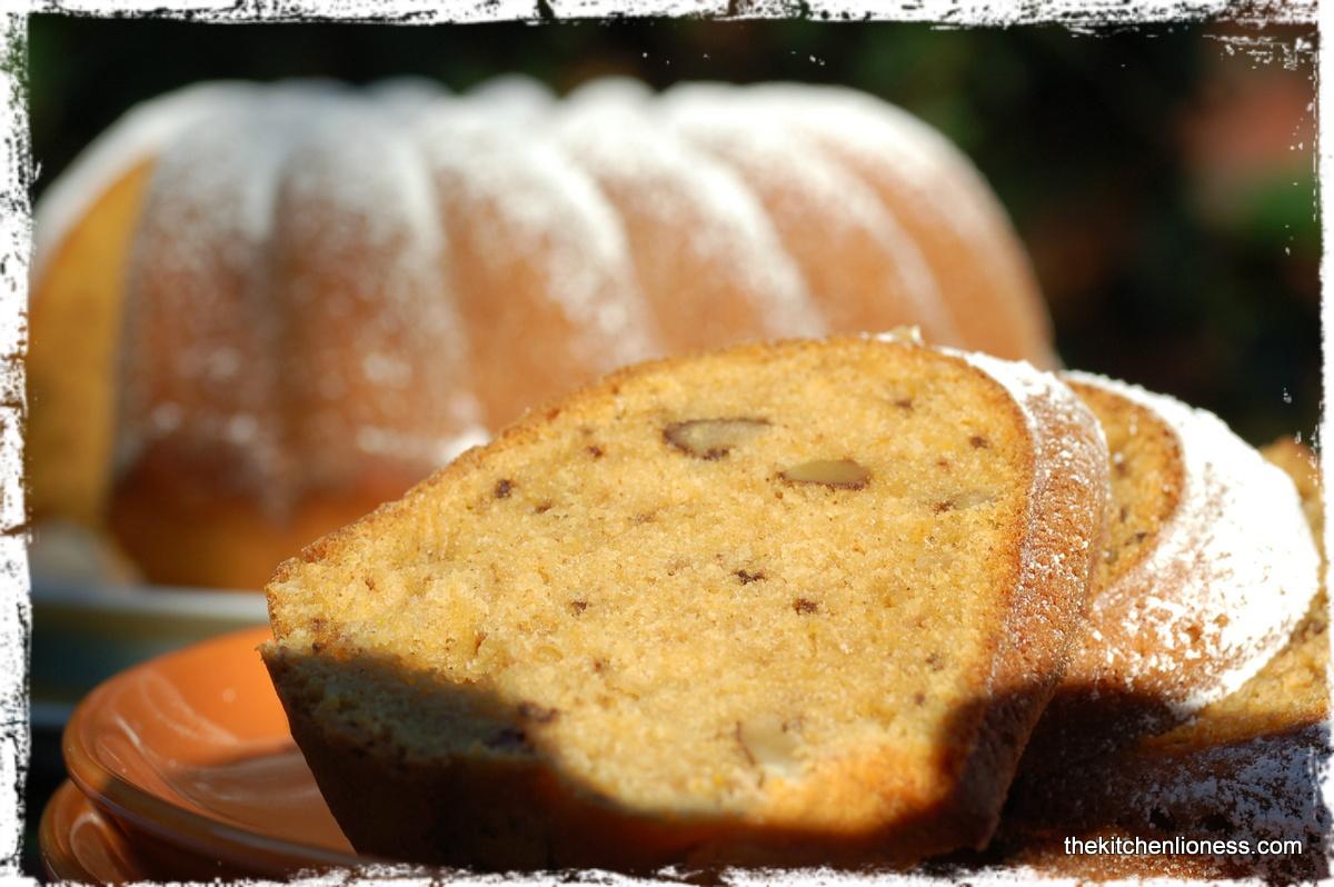 ... III - SWEET POTATO - Sweet Potato Bundt Cake with Bourbon and Pecans