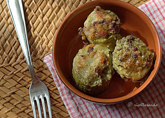 Zucchine con ripieno light ricetta per intolleranti all'uovo
