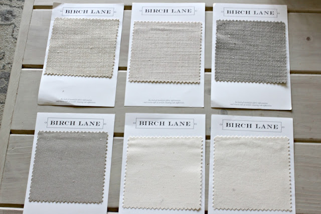 Birch Lane fabric swatches - www.goldenboysandme.com