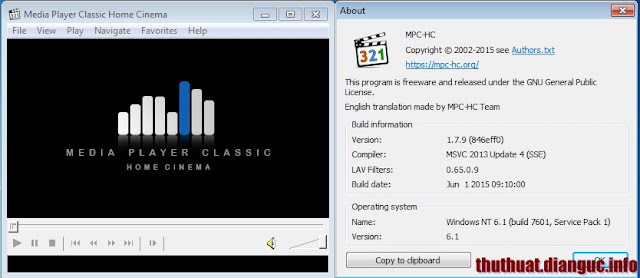 Download Media Player Classic – Home Cinema 1.7.9 full mới nhất 2015