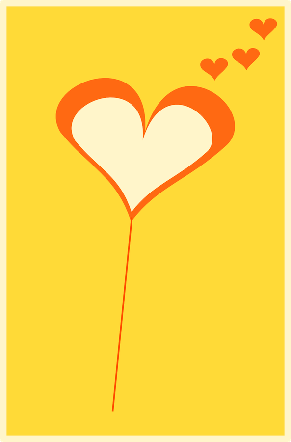 balloon heart card