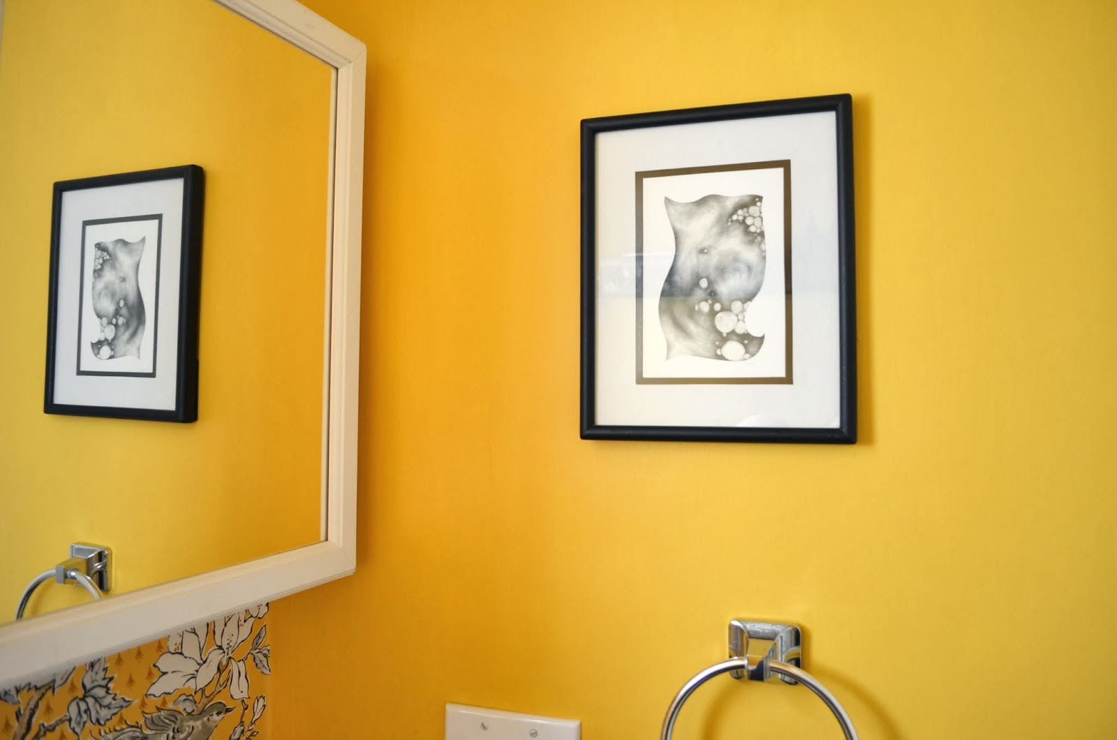 In the Little Yellow House: Half Bath Wall Art