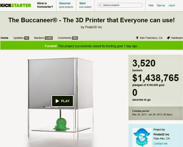 Crowdfunded 3D Printers