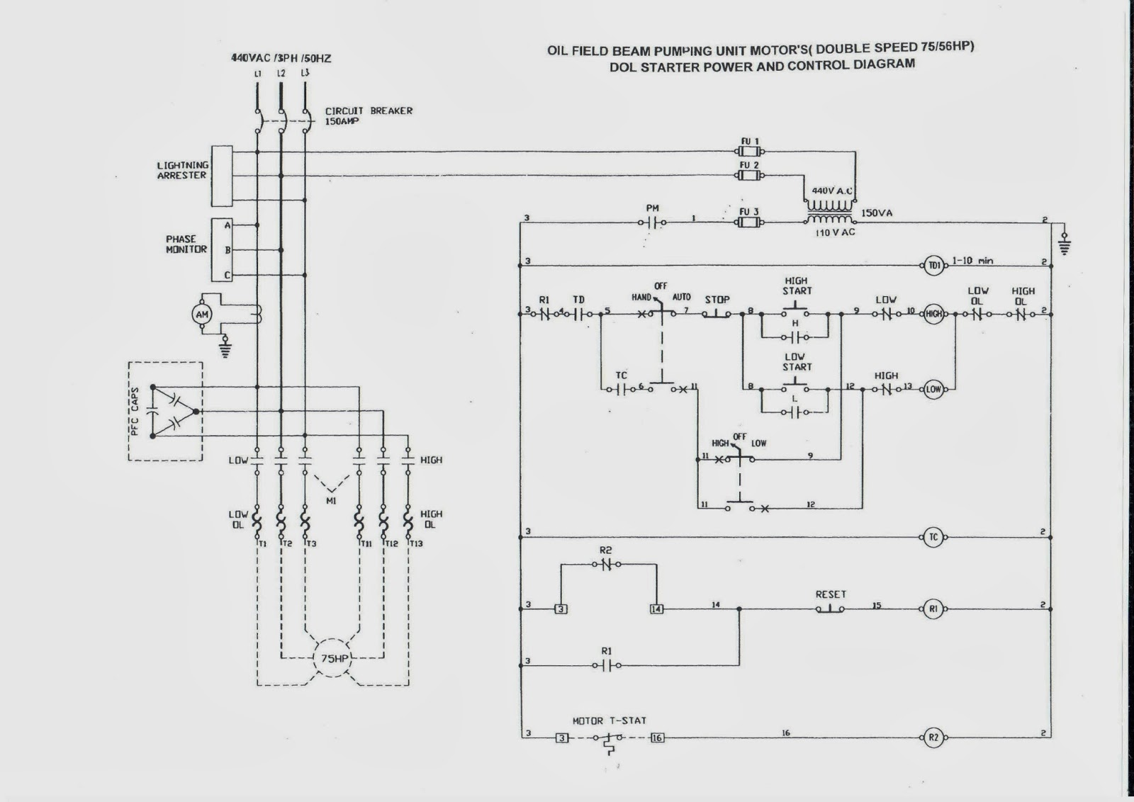 2 Speed Motor Control Circuit - Schematic Wiring Diagram •