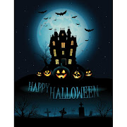 36. Free vector of happy halloween day haunted house