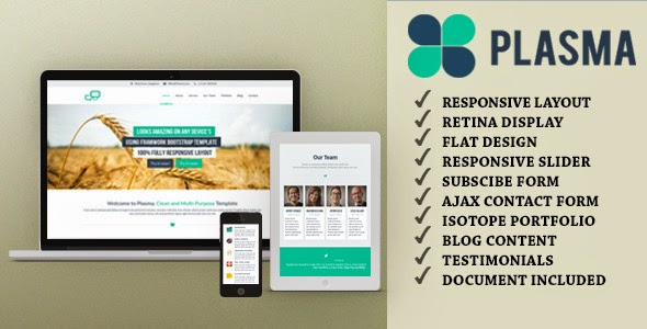 Plasma - One-Page Multi-Purpose HTML Template - Free By Themeforest