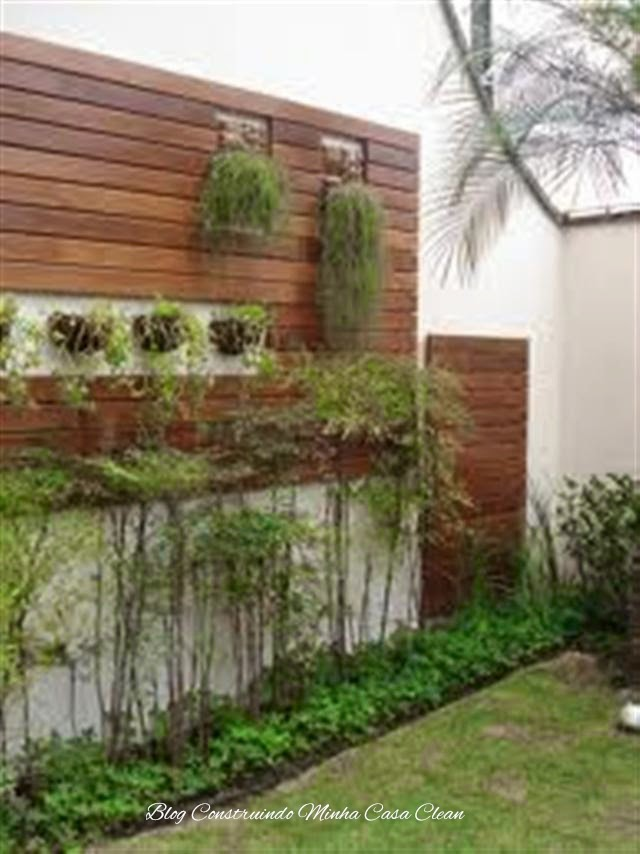 deck na parede do jardim : Construindo Minha Casa Clean: Deck de Madeira na Parede!!!