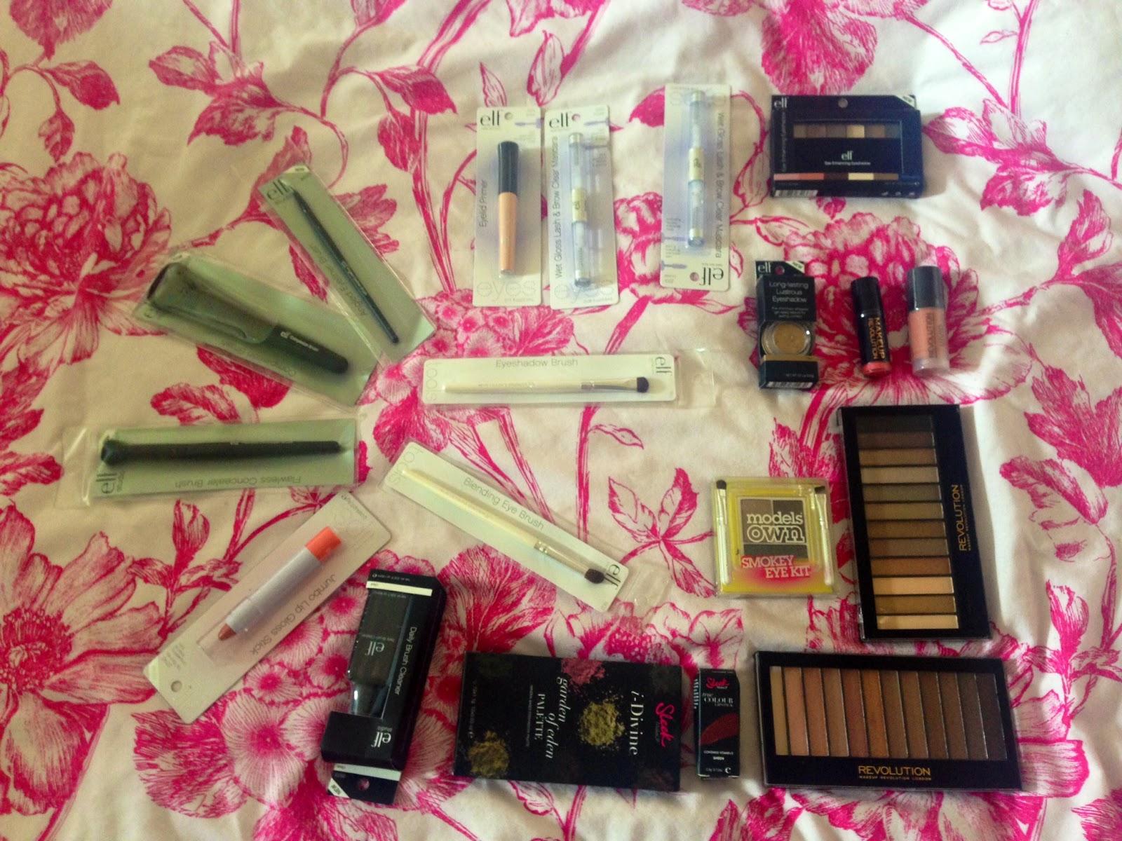 Budget Beauty Haul Makeup Revolution Sleek Elf And Models Own Studio Eye Enhancing Mascara