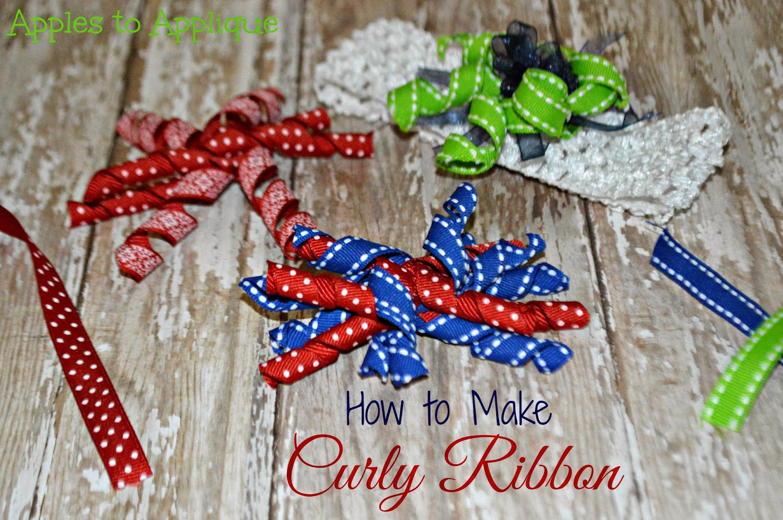 how to make curly hair ribbons