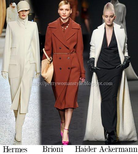 Дълго палто в прав силует есен-зима 2011-2012