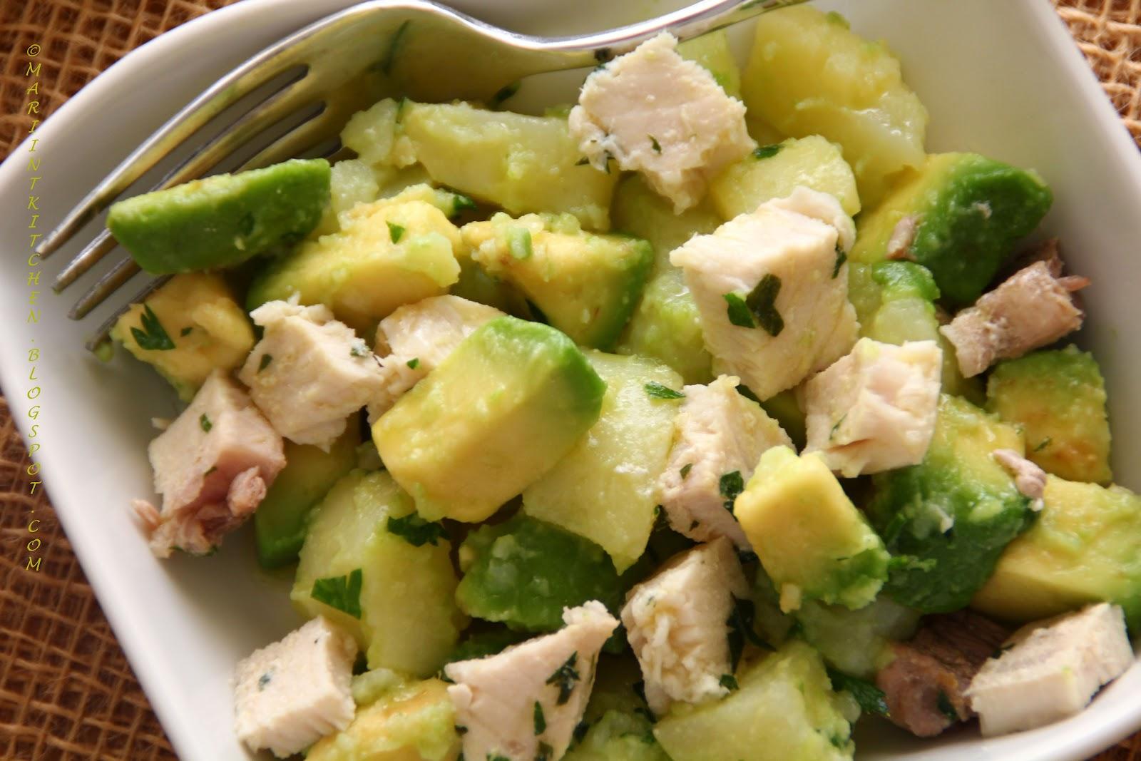 Mariintkitchen insalata fredda di patate avocado e pesce for Insalate ricette