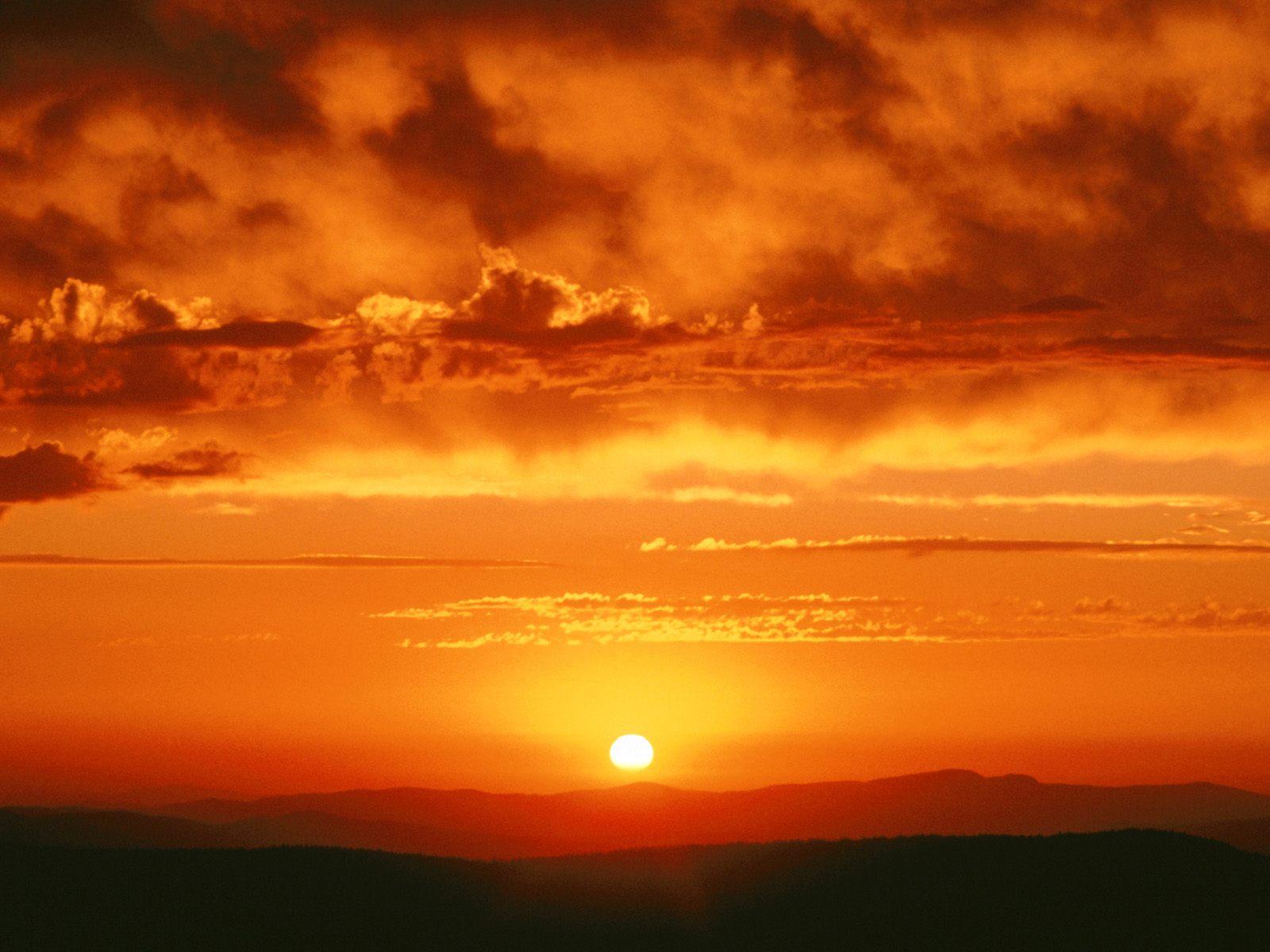 HD wallpaper Alaska Sunset Orange Sky Hd Wallpaper | Wallpaper ...