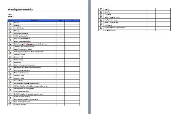 task checklist template word