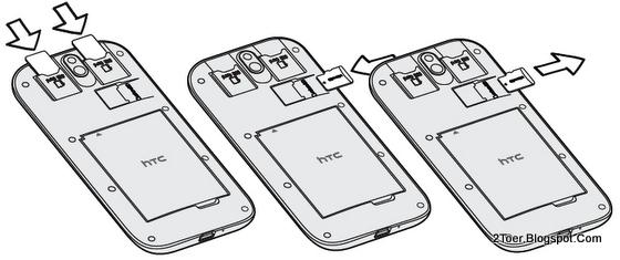 Insert dual SIM Card Remove microSD Memory Card HTC Desire SV