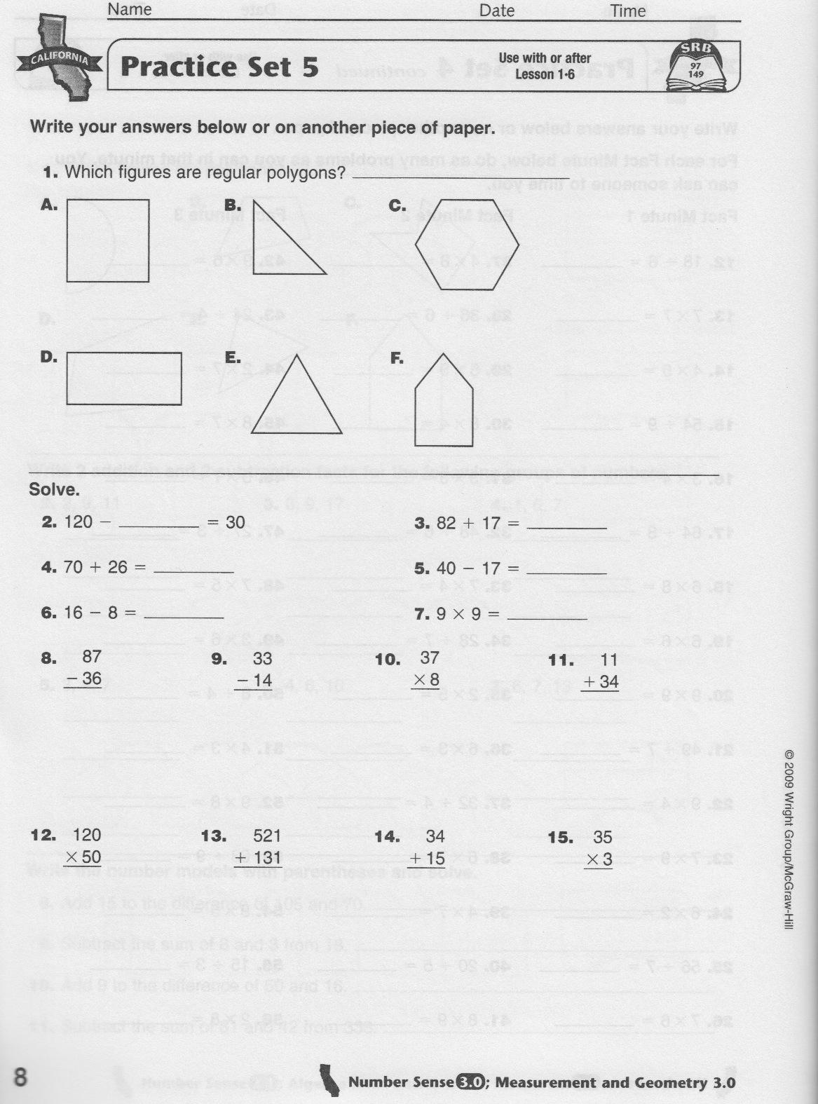 Math homework help worksheets