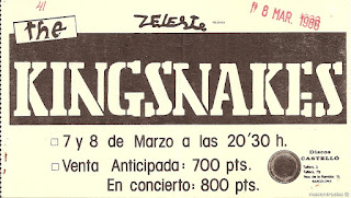 entrada de concierto de the kingsnakes